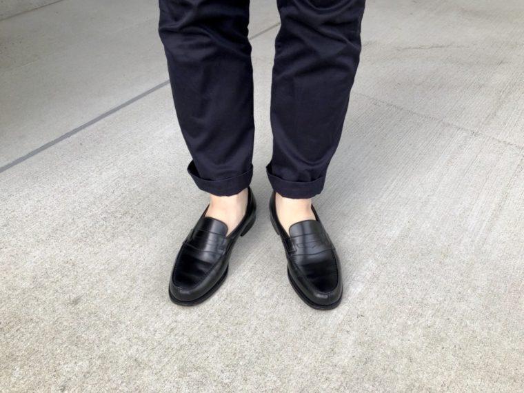 今週の靴〜素足にローファーデビュー