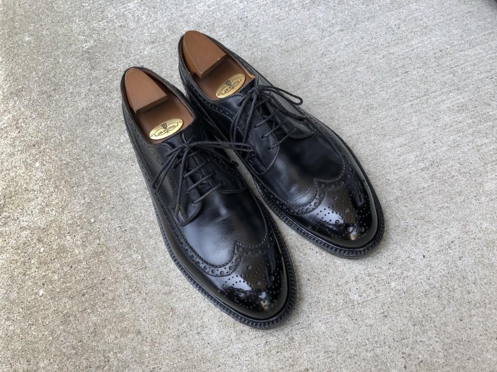 JMウエストン576ロングウィングチップ(JM WESTON #576)__紐は紗乃織靴紐に交換