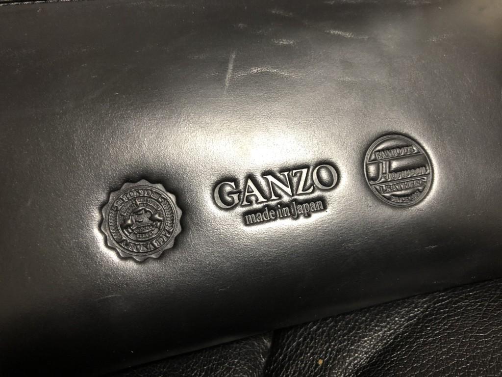 GANZO(ガンゾ)GH5 ラウンドファスナー 長財布_ロゴアップ