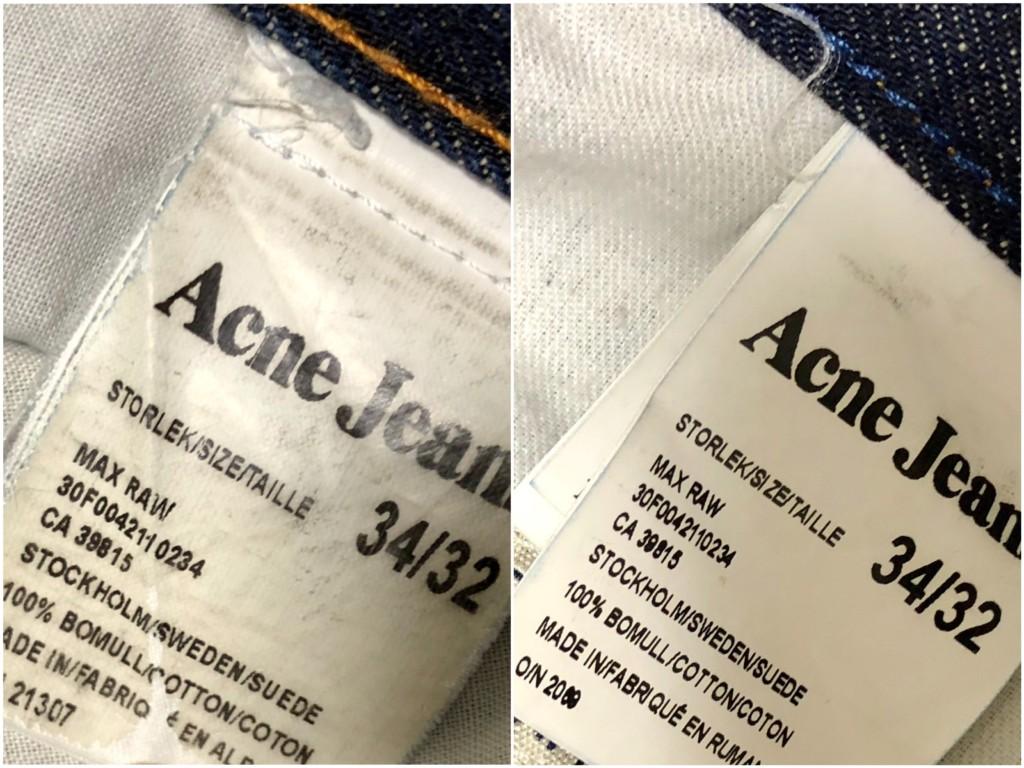 ACNE JEANS(アクネジーンズ)のタグ