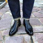 さっそくJMウェストン705サイドゴアブーツを履く(ジーンズコーデ)