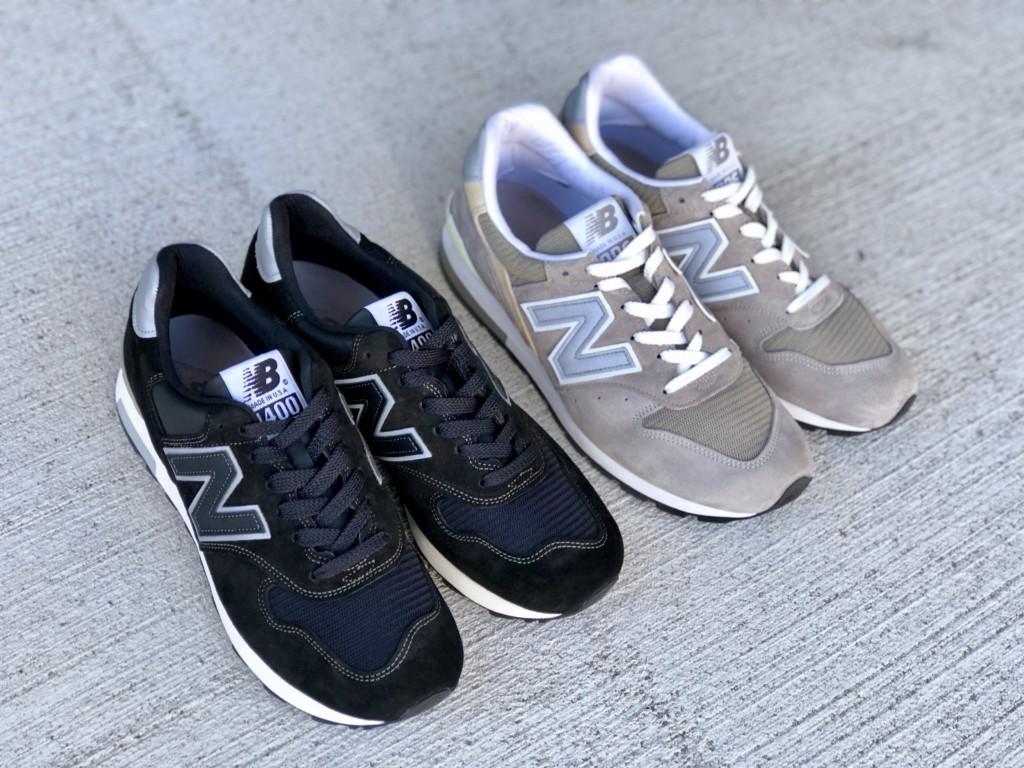 ニューバランスM1400 BKS(ブラック)とM996(グレー)_1