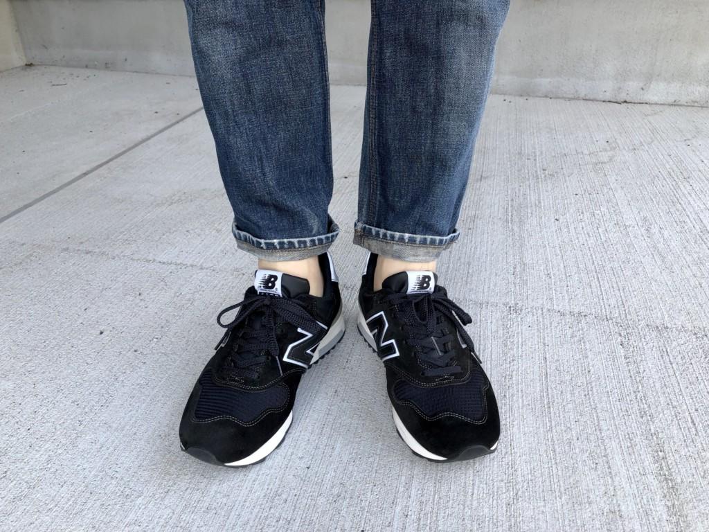 11月27日水曜日はニューバランスM1400黒×ジーンズ