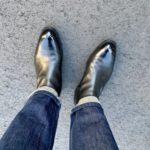 今週の靴~JMウェストンのサイドゴアブーツをピカピカにする