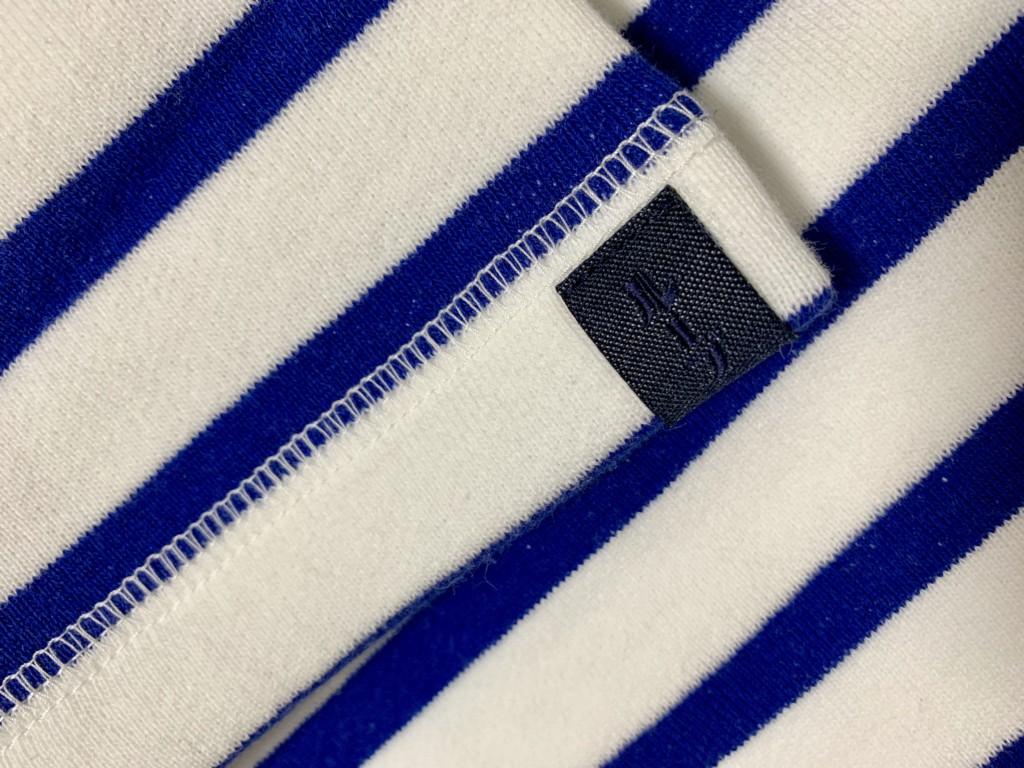 ループウィラーの半袖ボーダースウェットTシャツ(エディフィス別注)のタグ画像