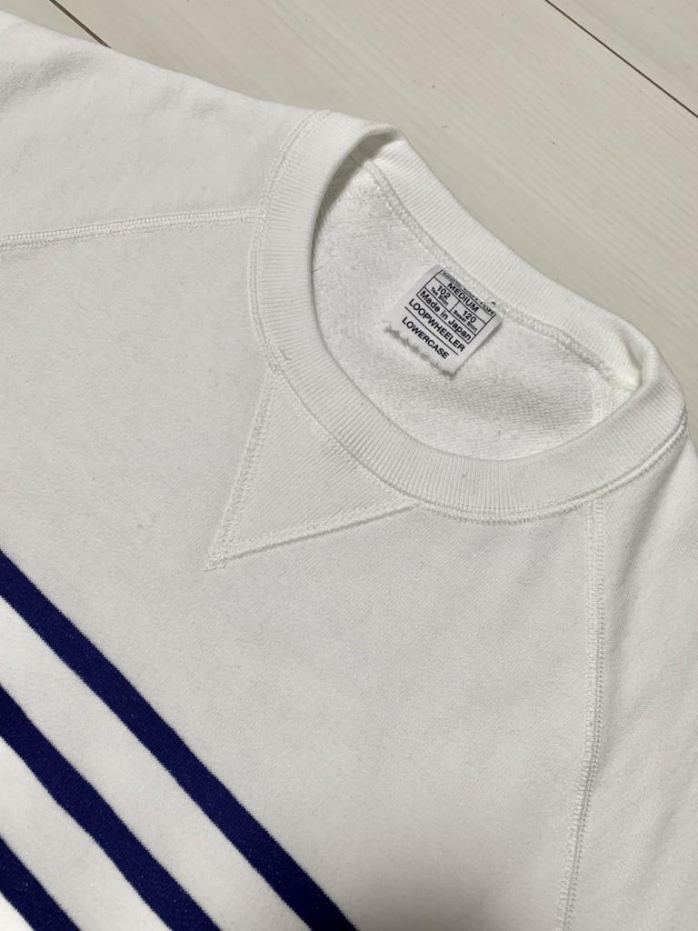 ループウィラーの半袖ボーダースウェットTシャツ(エディフィス別注)のV字ガゼット画像