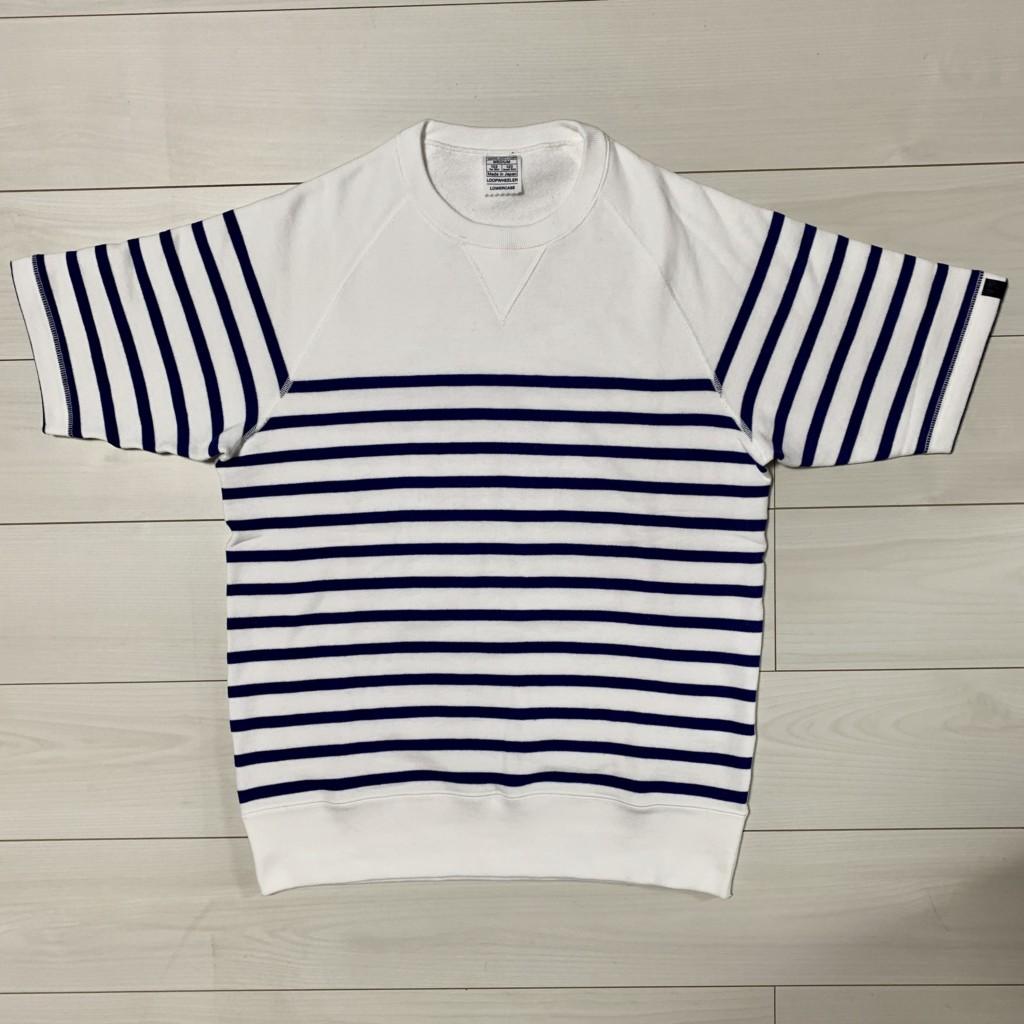 ループウィラーの半袖ボーダースウェットTシャツ(エディフィス別注)の画像