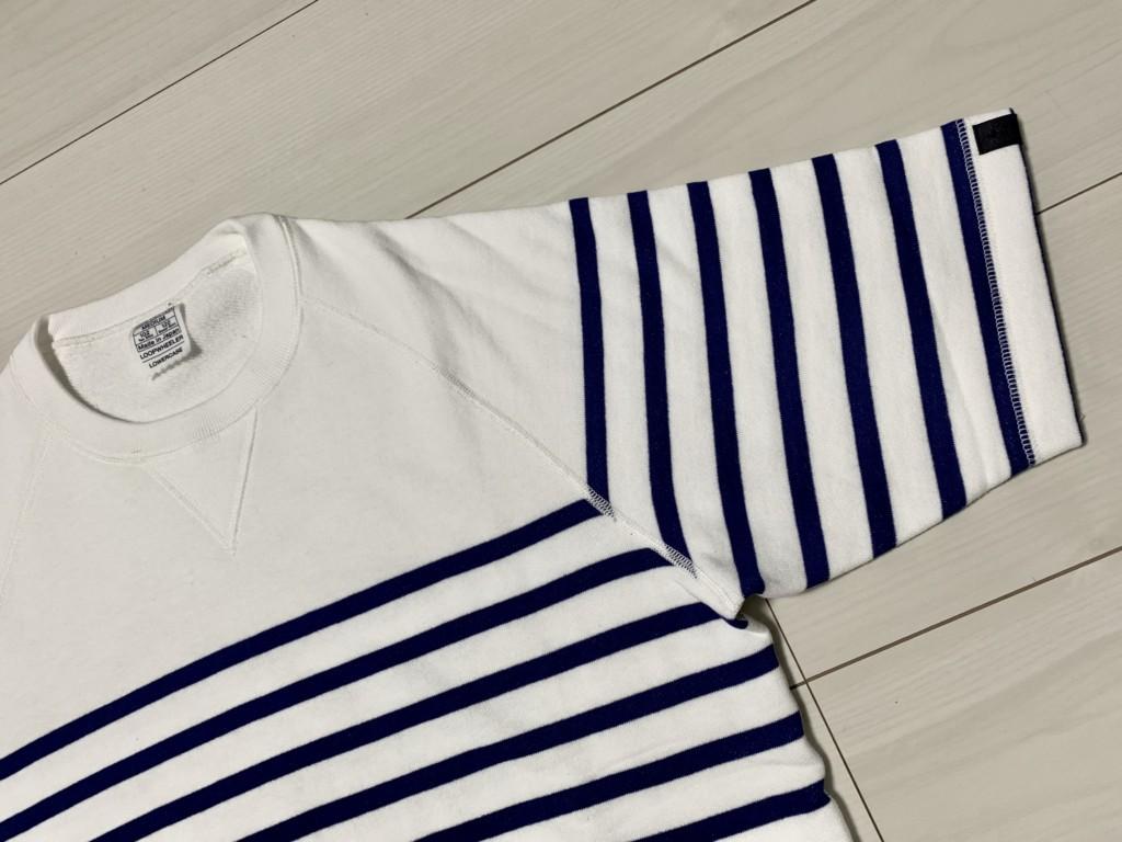 ループウィラーの半袖ボーダースウェットTシャツ(エディフィス別注)の画像2