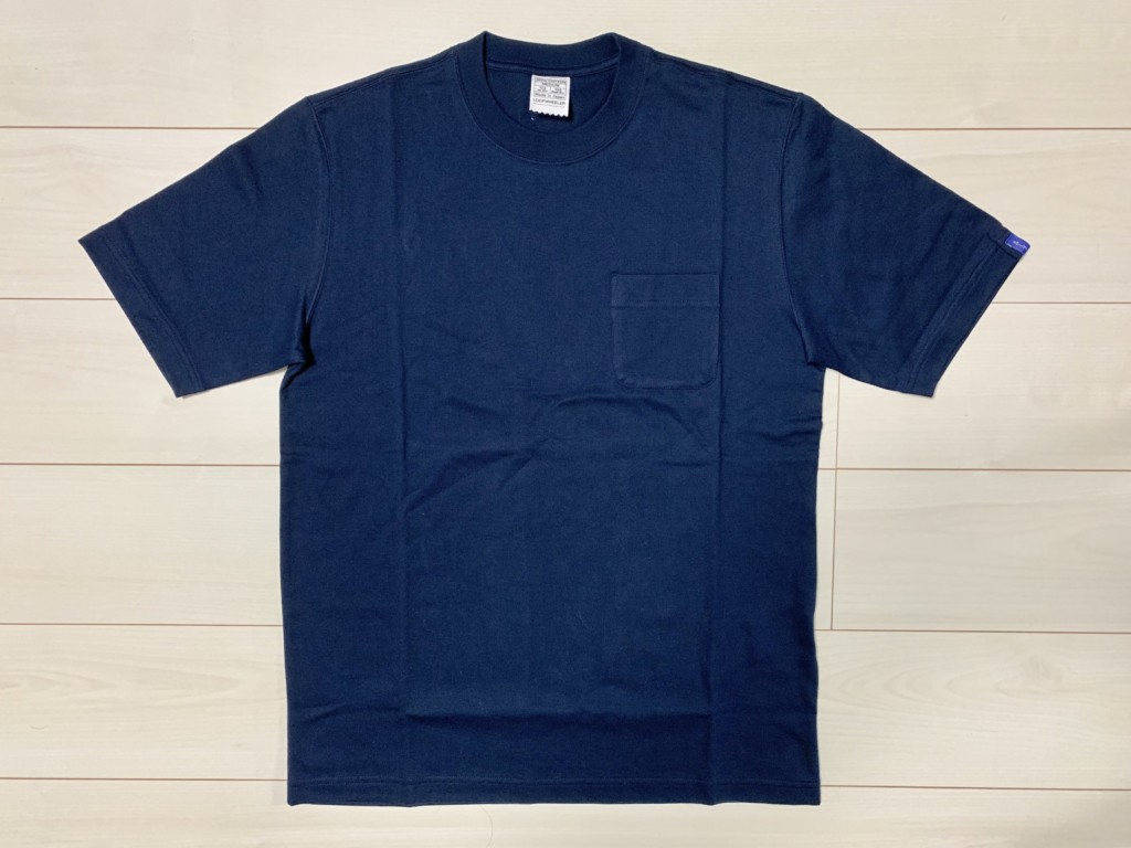 ループウィラー半袖ポケットTシャツ(LW56)のマリン(ネイビー)の画像