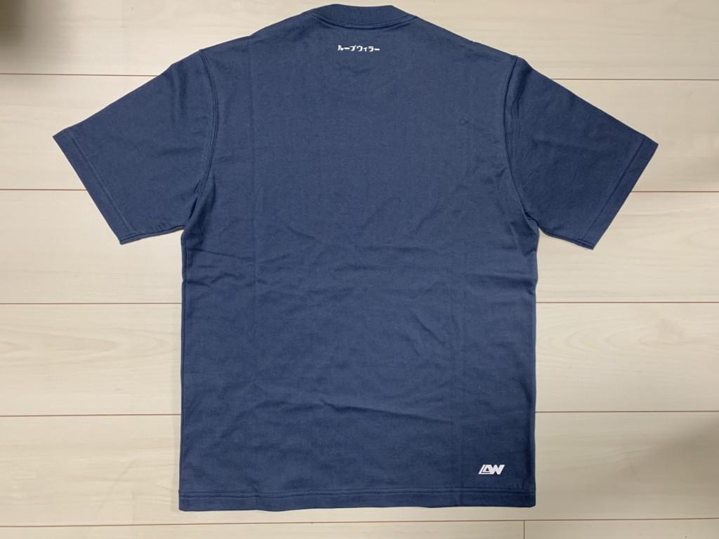ループウィラー(LOOPWHEELER)のロゴ入りTシャツ(スモールカタカナループウィラーTシャツ)の背面画像