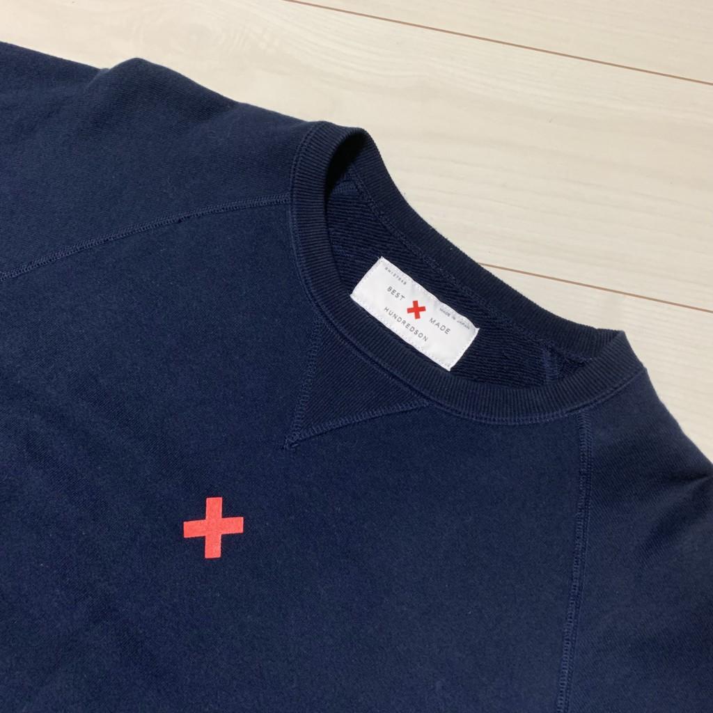LOOPWHEELER×BEST MADE×HUNDREDSONコラボ 半袖スウェットの色はネイビーの画像