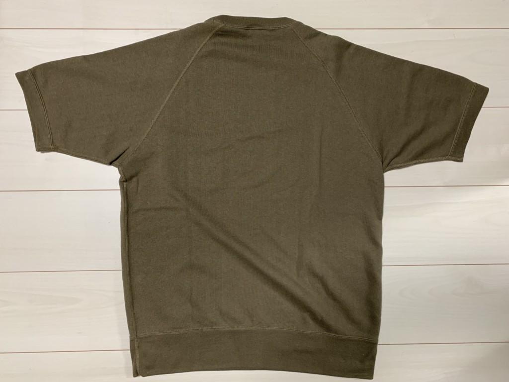 ループウィラー×BEAMS PLUS別注「エキストラライトプラス半袖スウェットシャツ」の背面画像