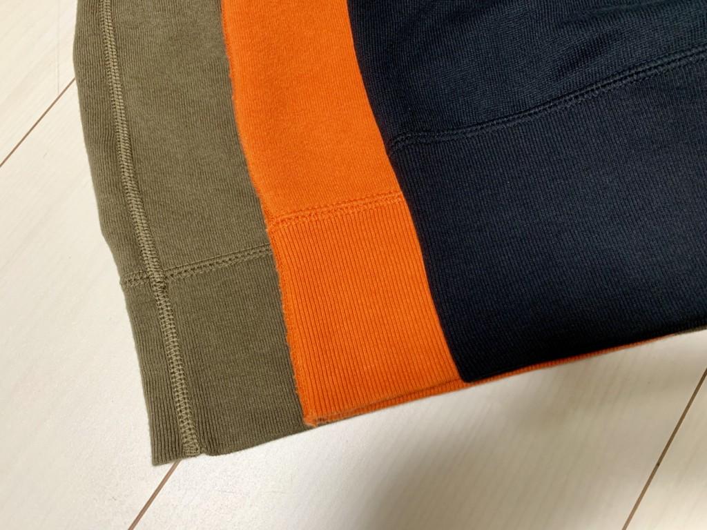 ループウィラー×LOWERCASE「天竺ショートスリーブTシャツ」の太めの裾リブの画像