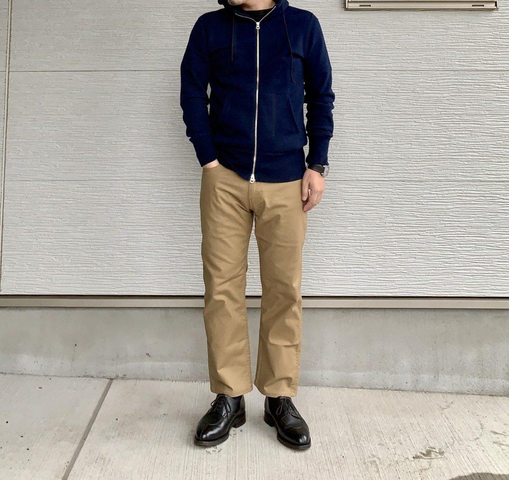 リーバイス505「workwear」ベージュのコーデ画像