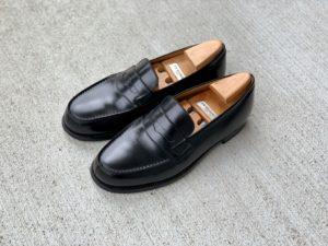 70回履いた黒のJMウエストン180ローファーの画像
