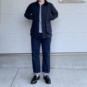 リゾルド711×バブアーのコーデ画像