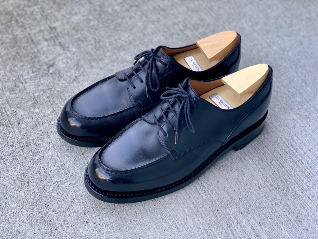 70回履いたJMウエストン641ゴルフの履き皺の画像