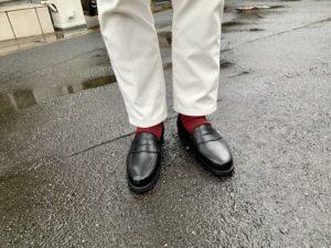 クロケット&ジョーンズ「ボストン2」の履きおろした画像