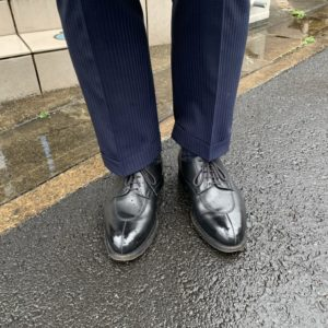 JMウエストン「598」×スーツの画像