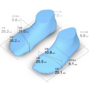 ZOZOマットの計測結果(全体データ)の画像