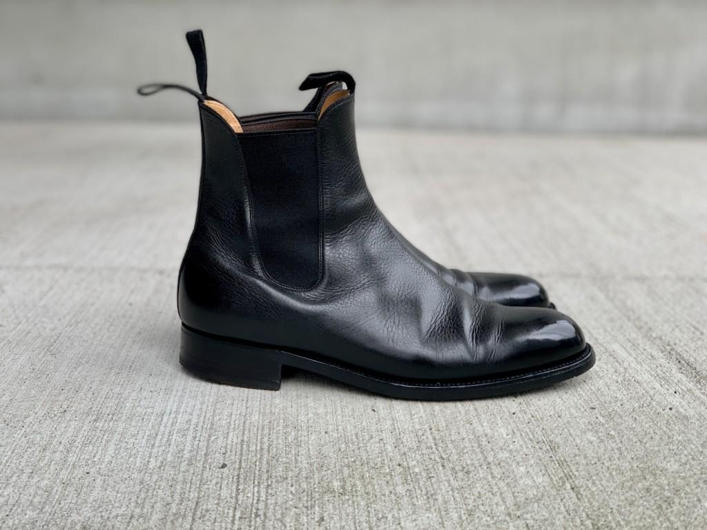 JMウエストンのサイドゴアブーツを靴磨きの画像5