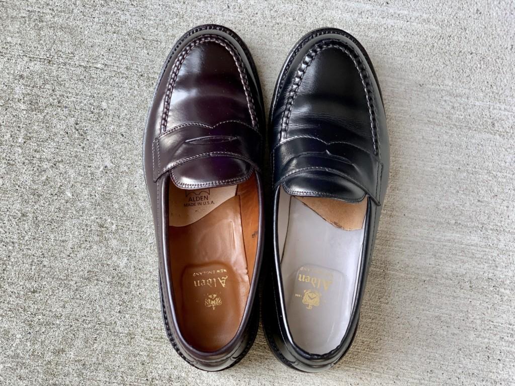 オールデンの日本仕様と本国仕様の履き口の大きなの違い