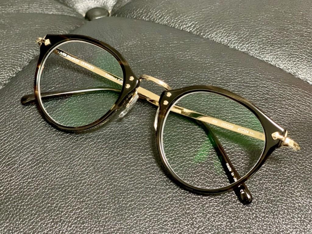 オリバーピープルズ(OLIVER PEOPLES)の「505 Limited Edition 雅」のセルのリムの画像