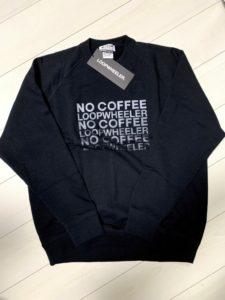 NO COFFEE × LOOPWHEELER ちょいbigスウェット(BLACK)の画像2