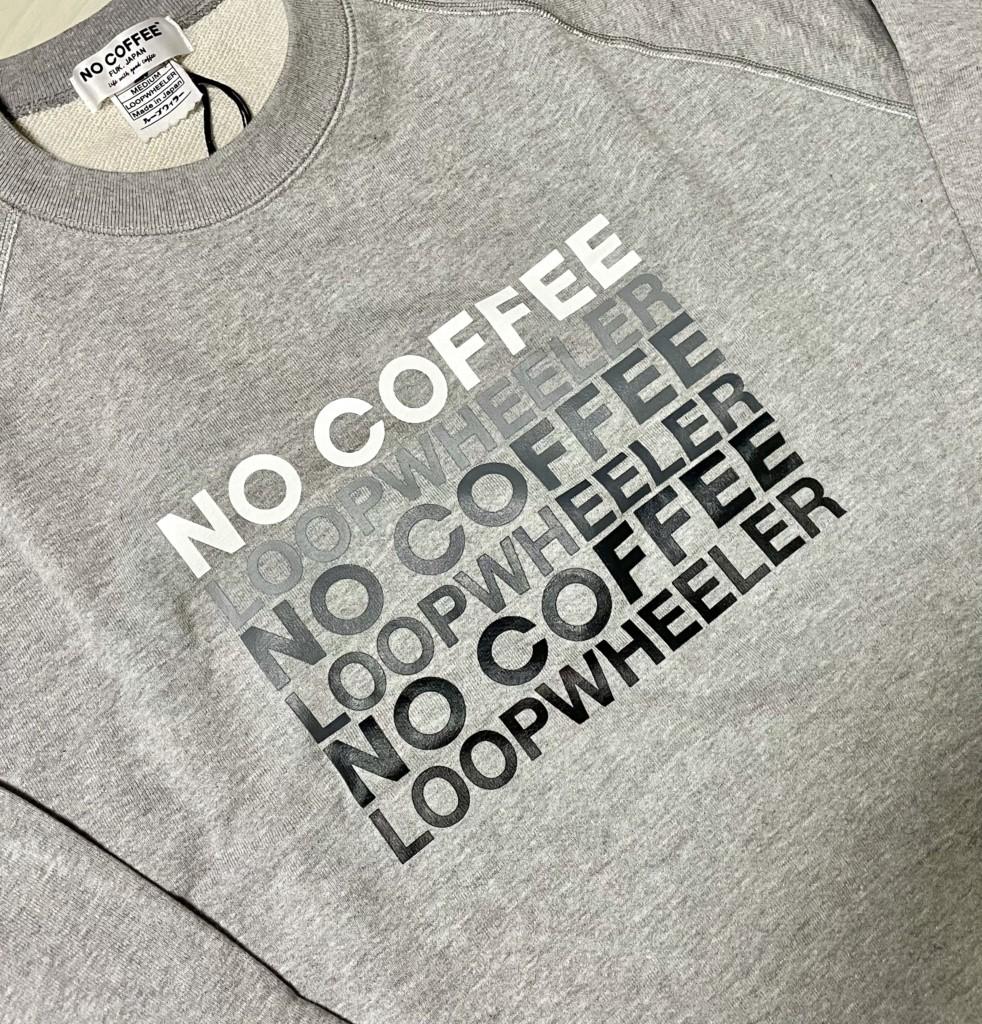 LOOPWHEELER×NOCOFFEEのグレースウェットの胸のロゴ画像
