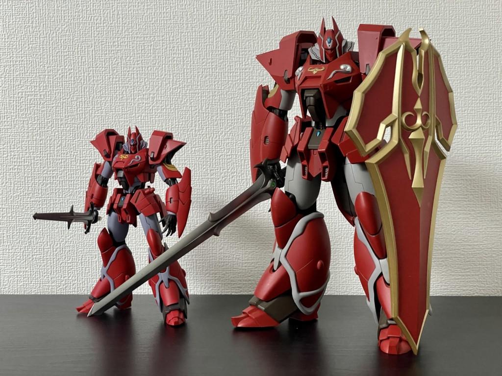 WAVE製「鉄巨神」とロボット魂「鉄巨神」の比較画像