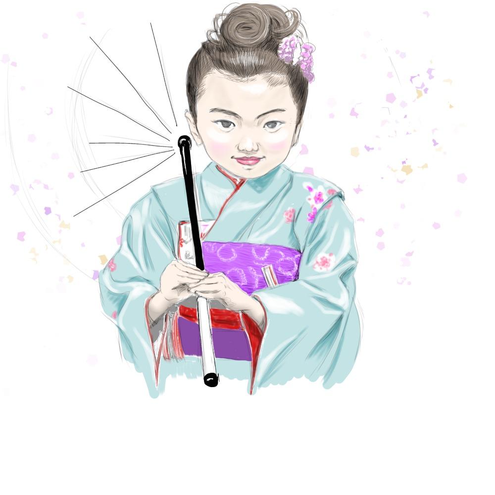 娘のイラスト画像