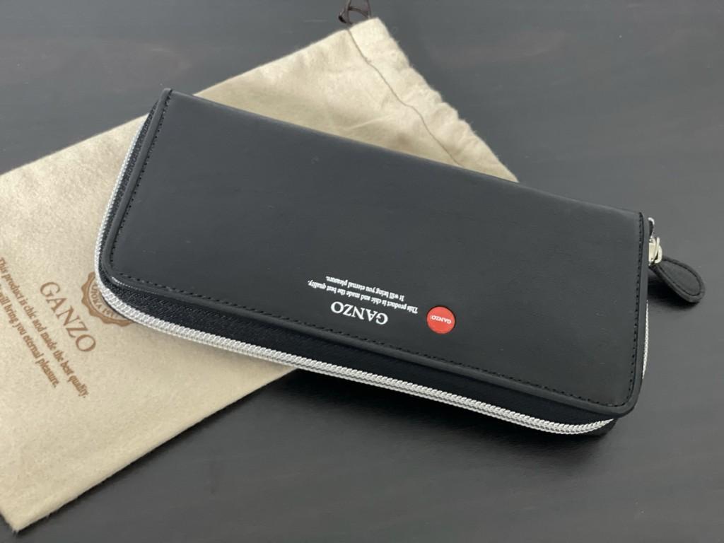 黒のGANZO(ガンゾ)GRラウンドファスナー長財布の画像3