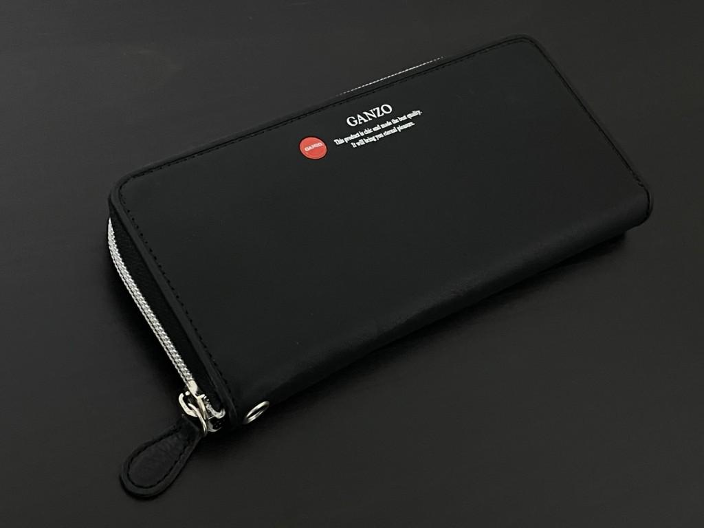 黒のGANZO(ガンゾ)GRラウンドファスナー長財布の画像