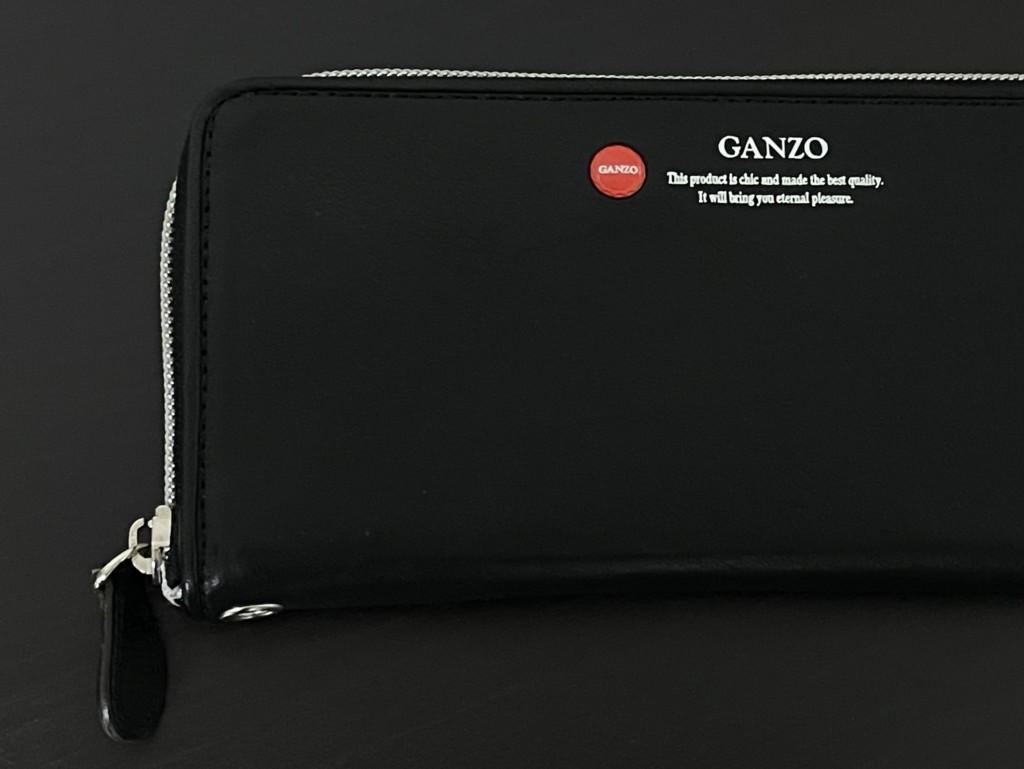 黒のGANZO(ガンゾ)GRラウンドファスナー長財布のTOP画像